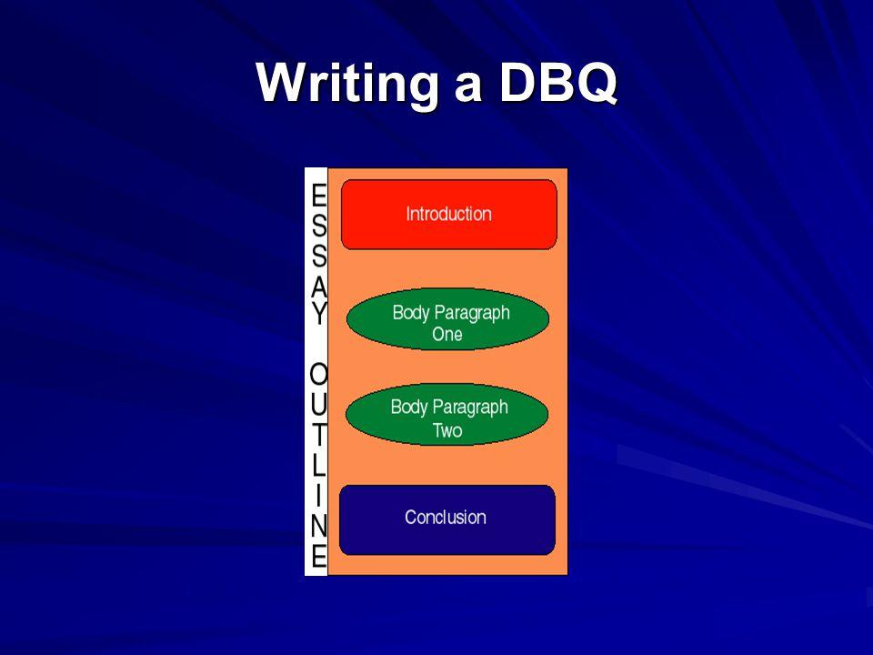 Writing a DBQ