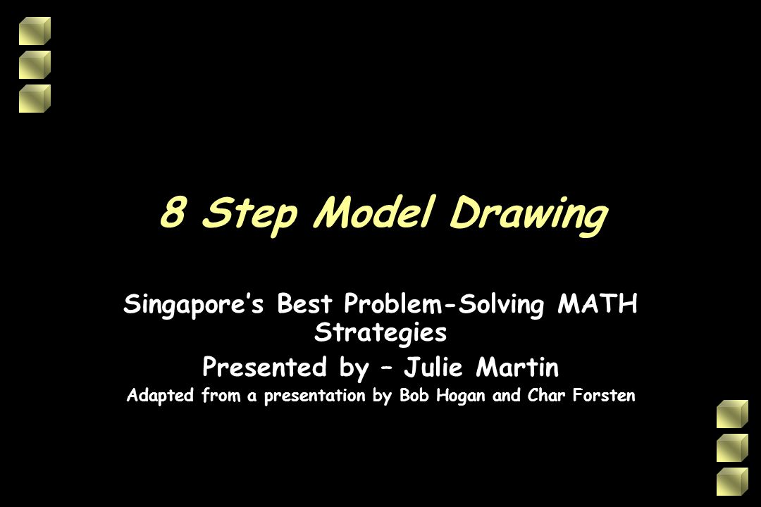 8 Step Model Drawing Singapore's Best Problem-Solving MATH Strategies