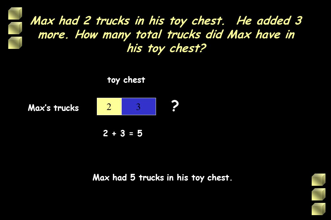 Max had 2 trucks in his toy chest. He added 3 more