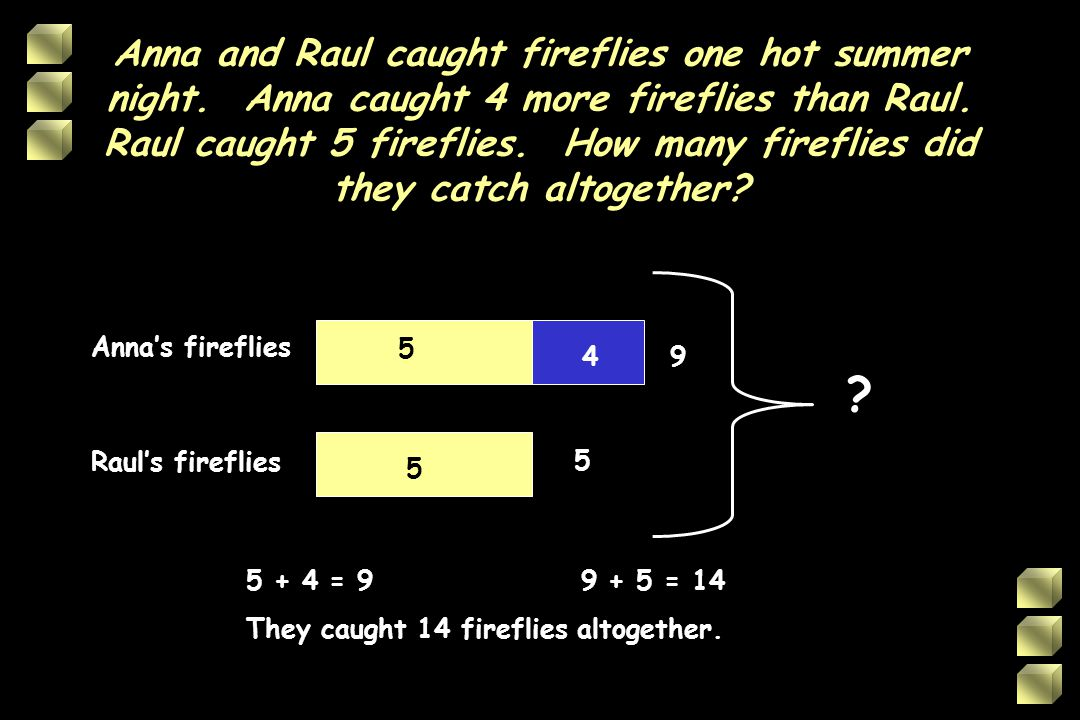 Anna and Raul caught fireflies one hot summer night