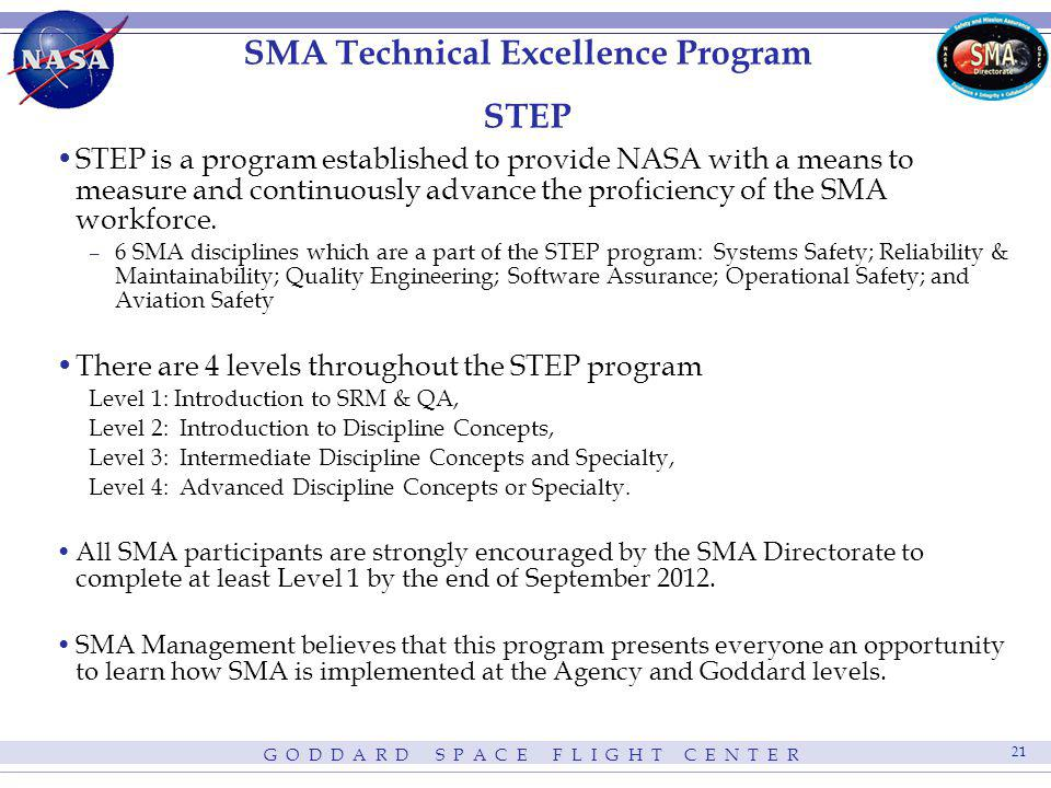 SMA Technical Excellence Program STEP