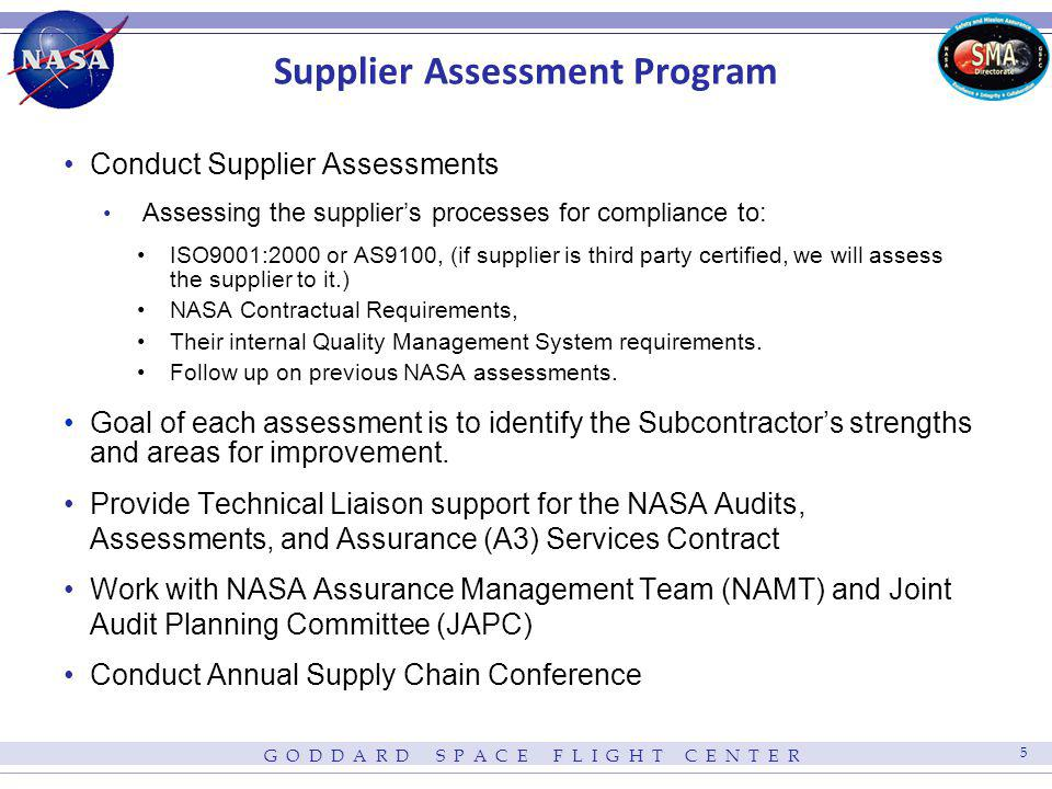 Supplier Assessment Program