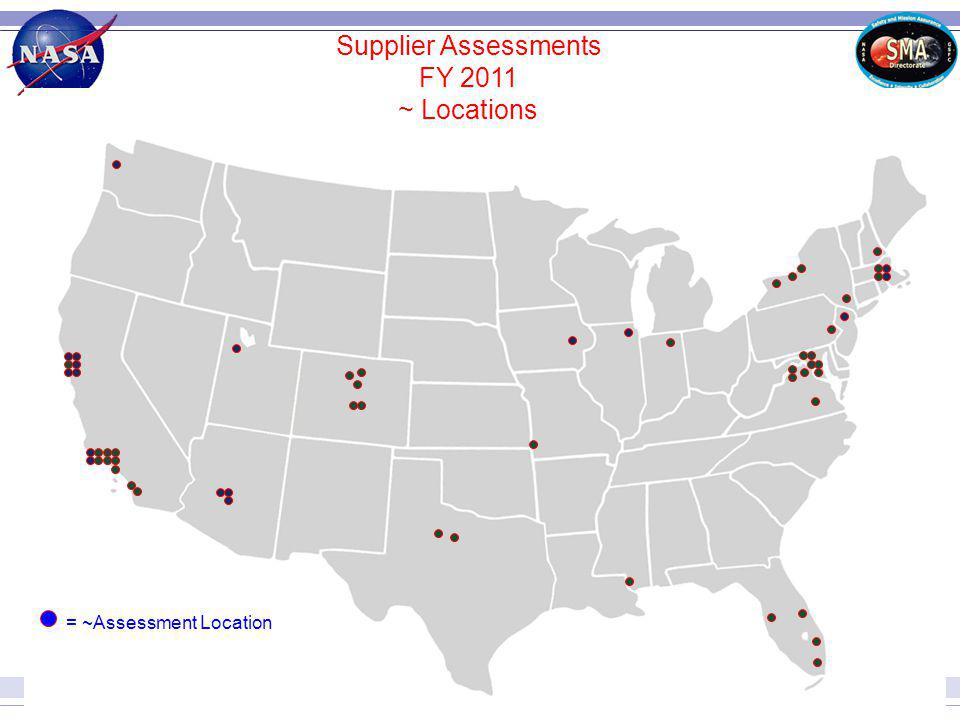 Supplier Assessments FY 2011 ~ Locations = ~Assessment Location