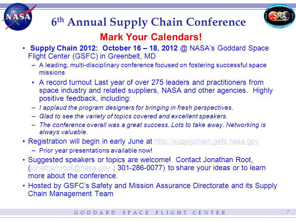 6th Annual Supply Chain Conference