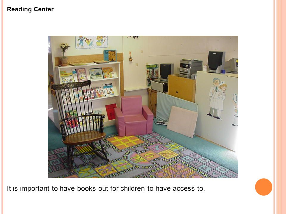 It is important to have books out for children to have access to.