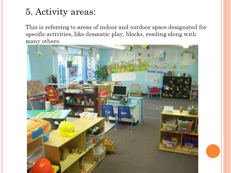 5. Activity areas: