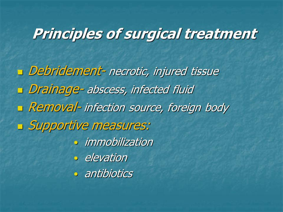 Principles of surgical treatment