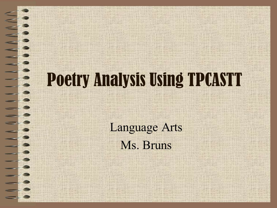 Poetry Writing and Analysis Guide