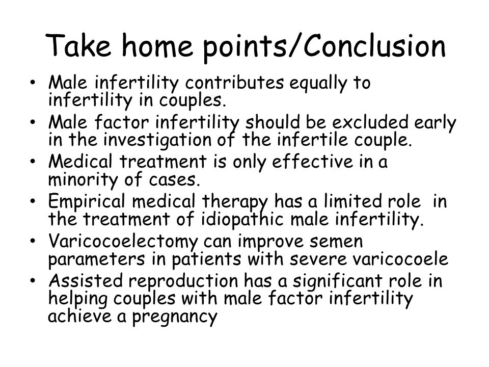 Take home points/Conclusion