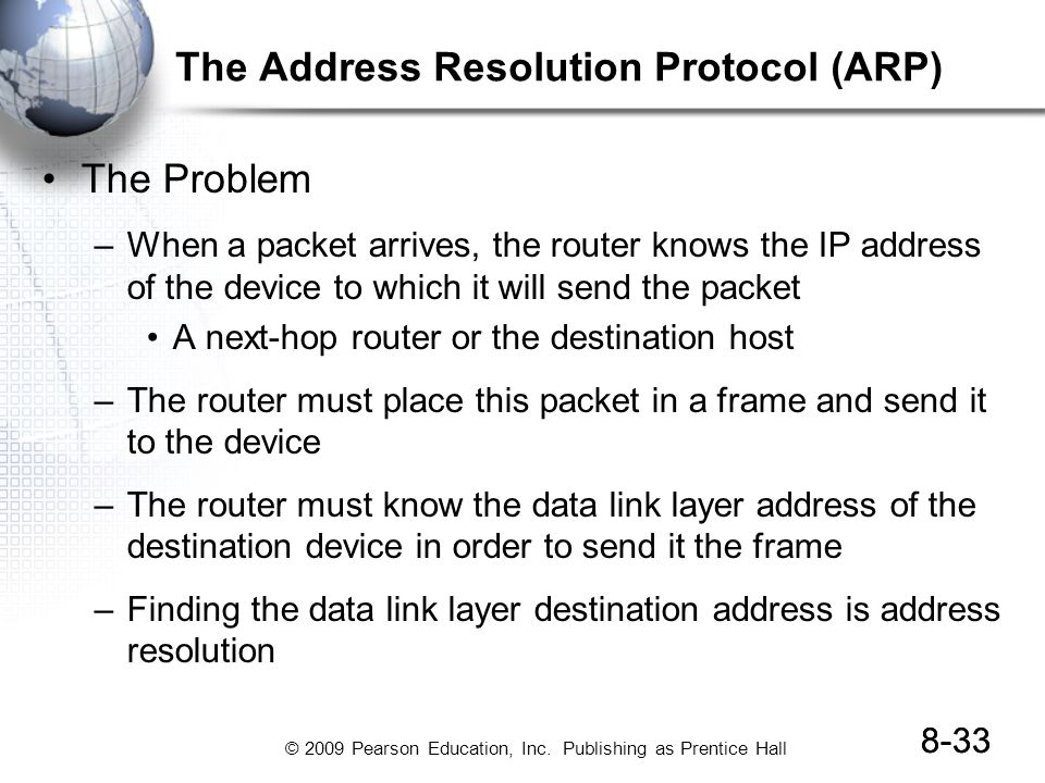 The Address Resolution Protocol (ARP)