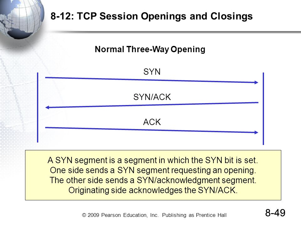 8-12: TCP Session Openings and Closings