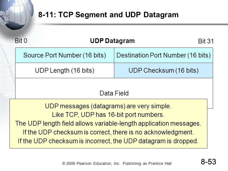 8-11: TCP Segment and UDP Datagram