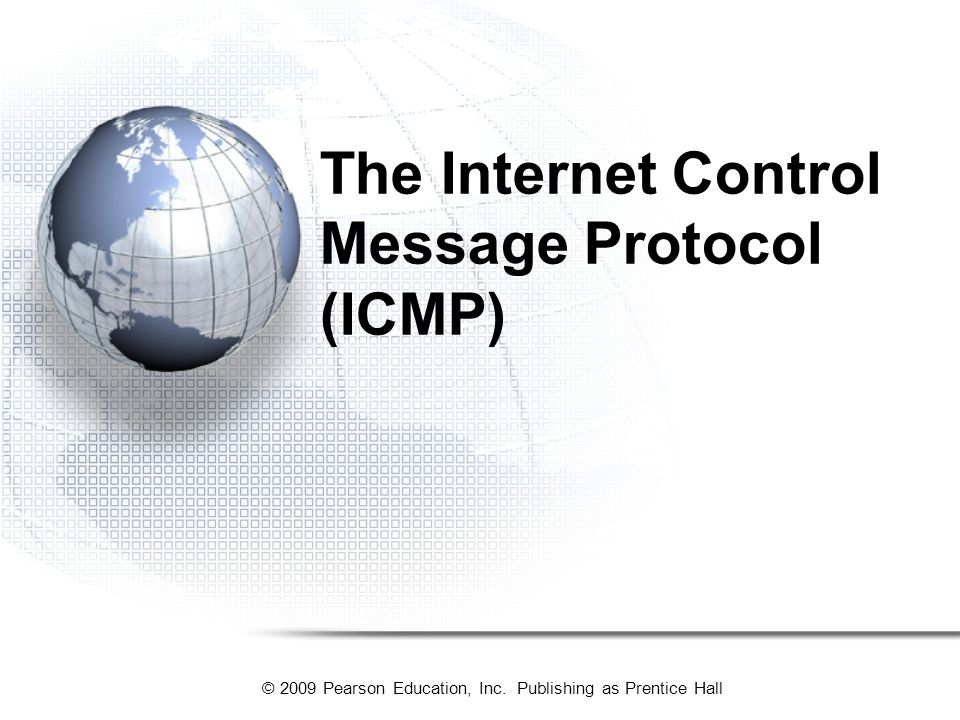 The Internet Control Message Protocol (ICMP)