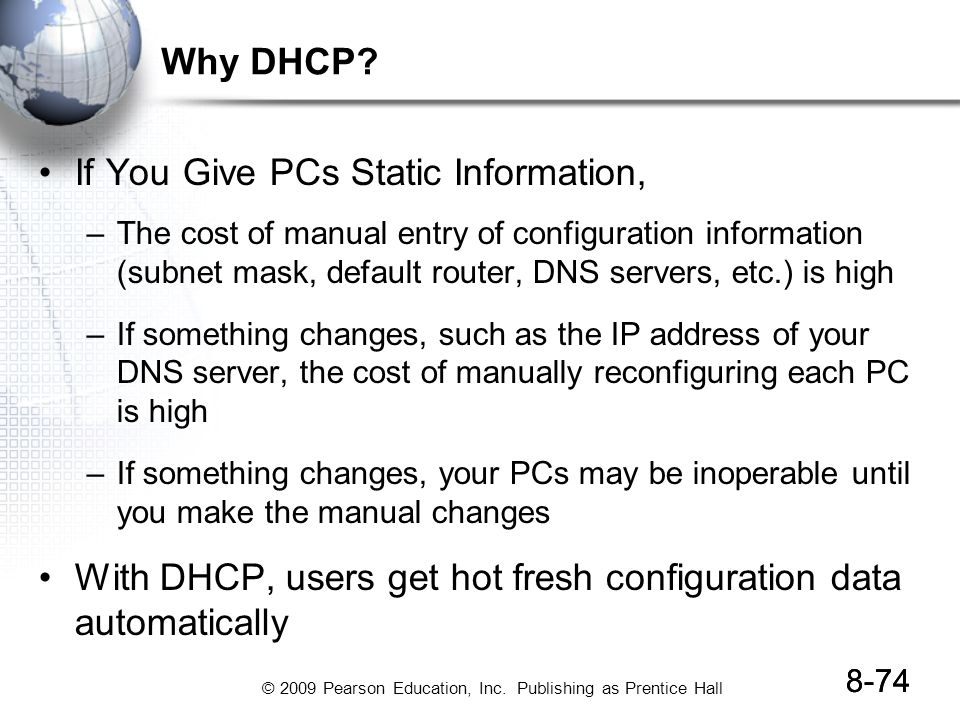 If You Give PCs Static Information,