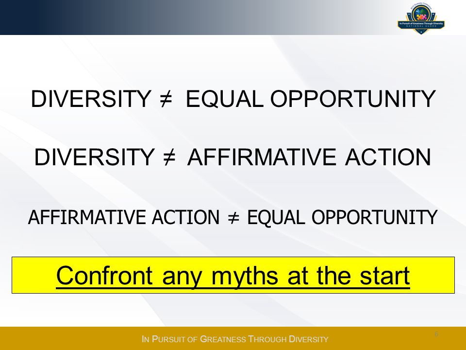 Confront any myths at the start