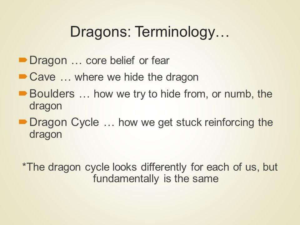 Dragons: Terminology…