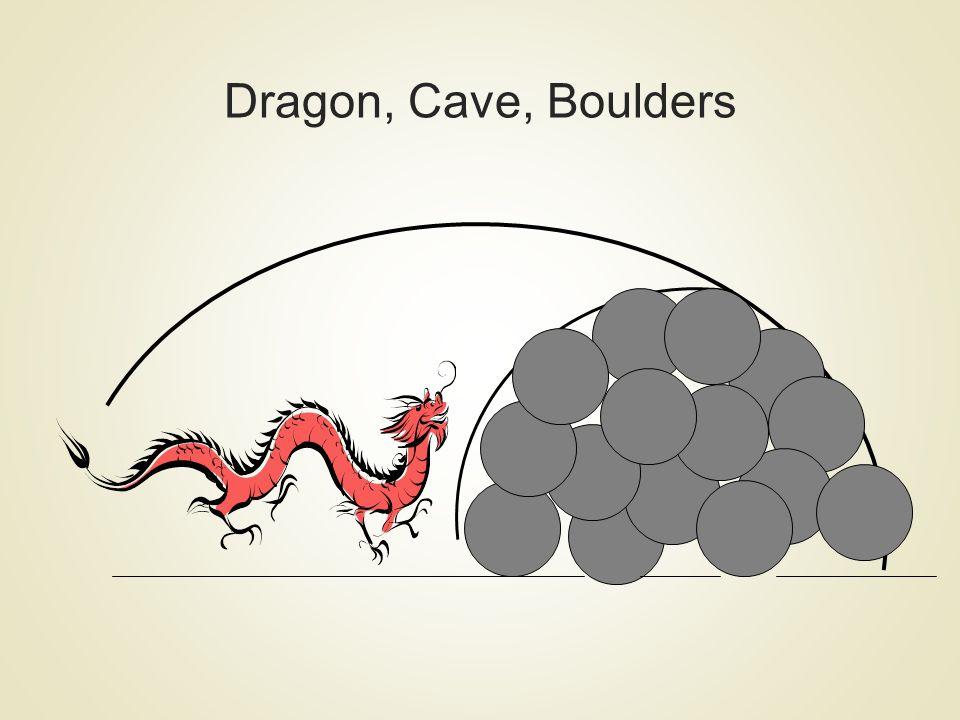 Dragon, Cave, Boulders