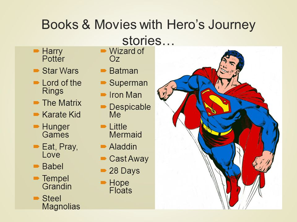 Books & Movies with Hero's Journey stories…