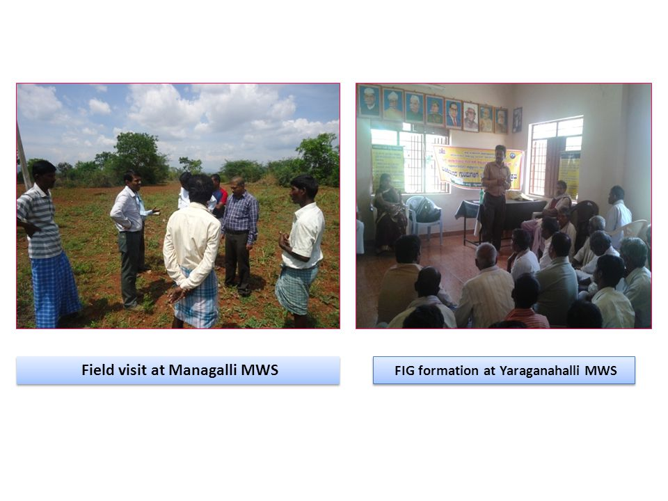 Field visit at Managalli MWS FIG formation at Yaraganahalli MWS