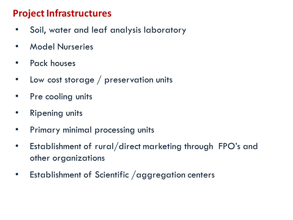 Project Infrastructures