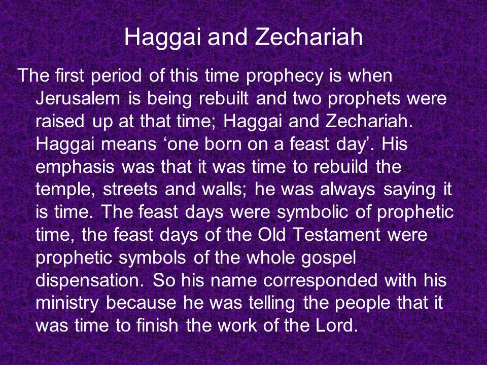 Haggai and Zechariah