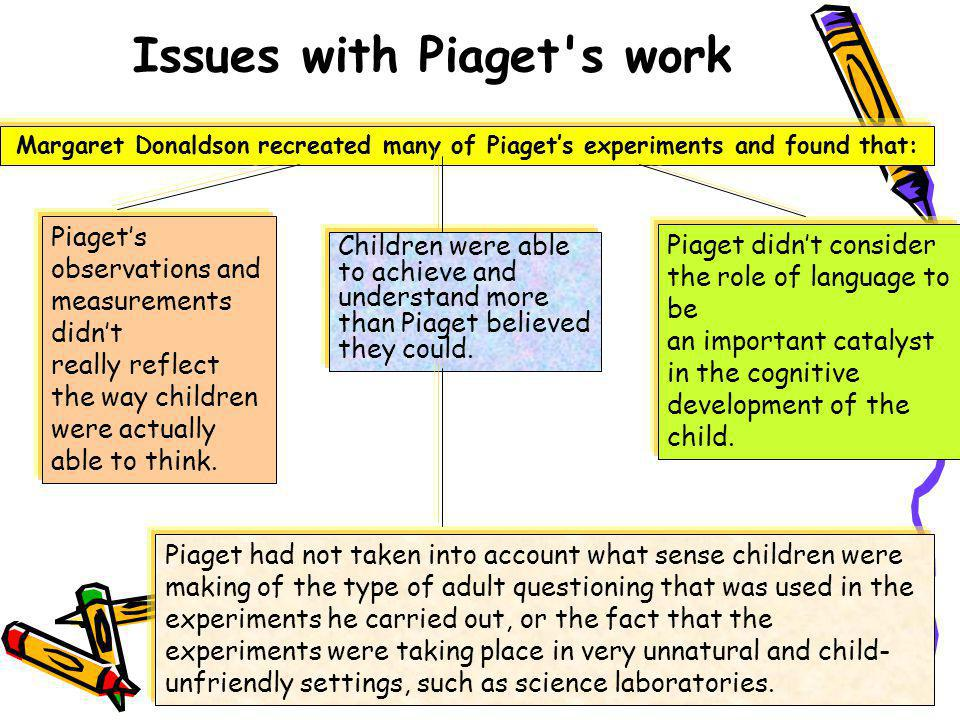 Issues with Piaget s work