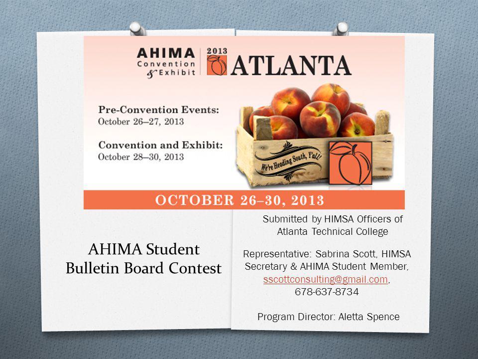 AHIMA Student Bulletin Board Contest