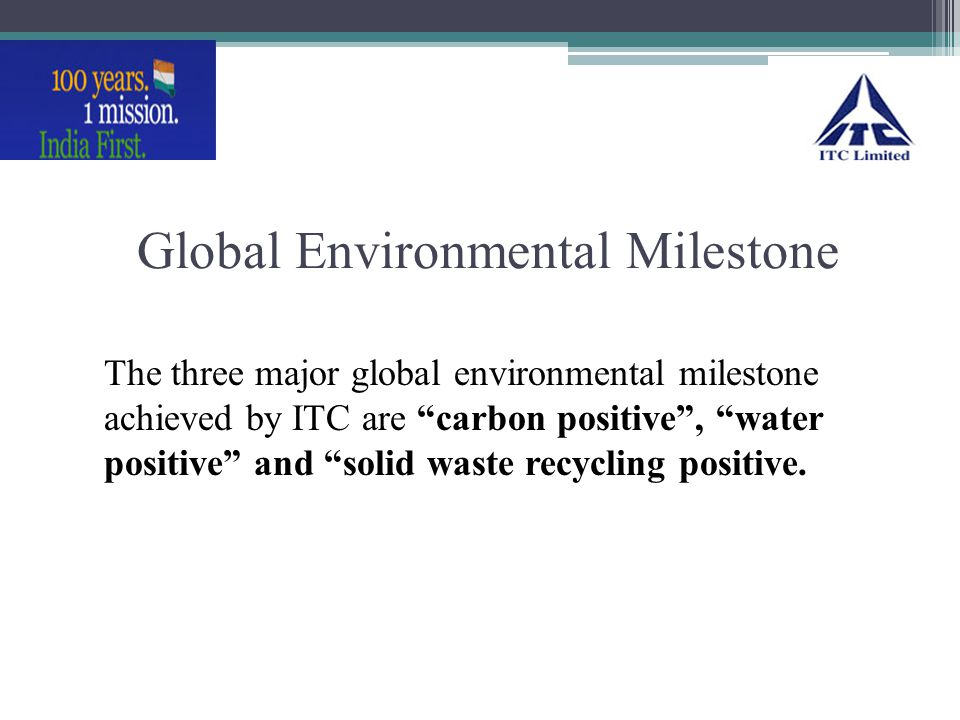 Global Environmental Milestone