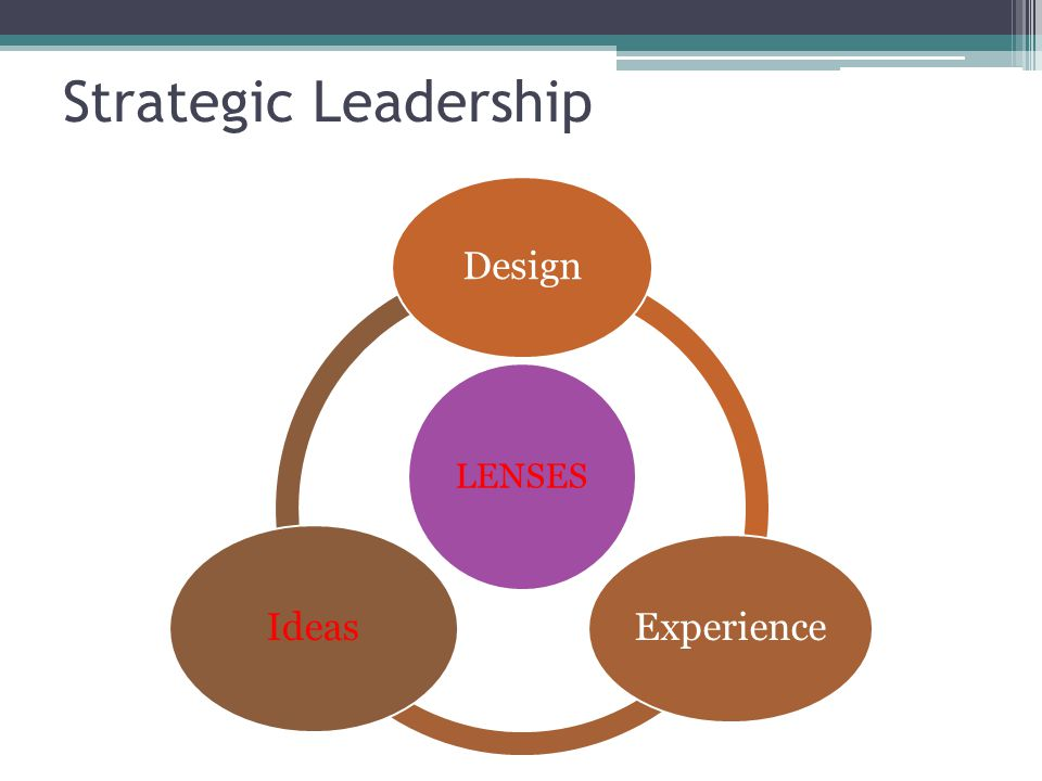 Strategic Leadership LENSES Design Experience Ideas