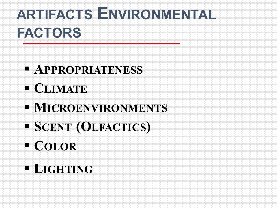 artifacts Environmental factors