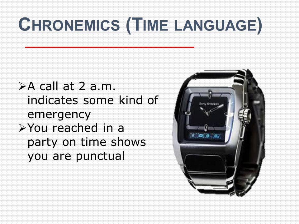Chronemics (Time language)