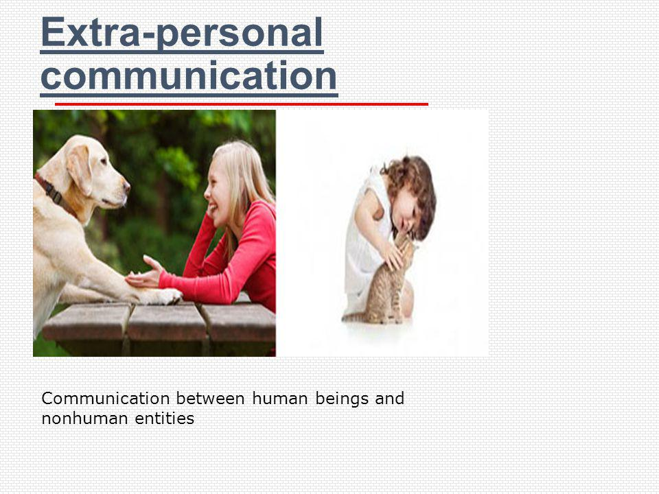 Extra-personal communication
