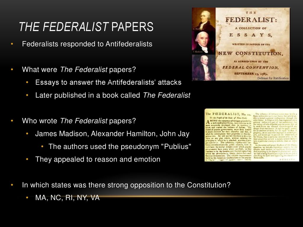 Describe how the anti-federalists will respond to essays 10.
