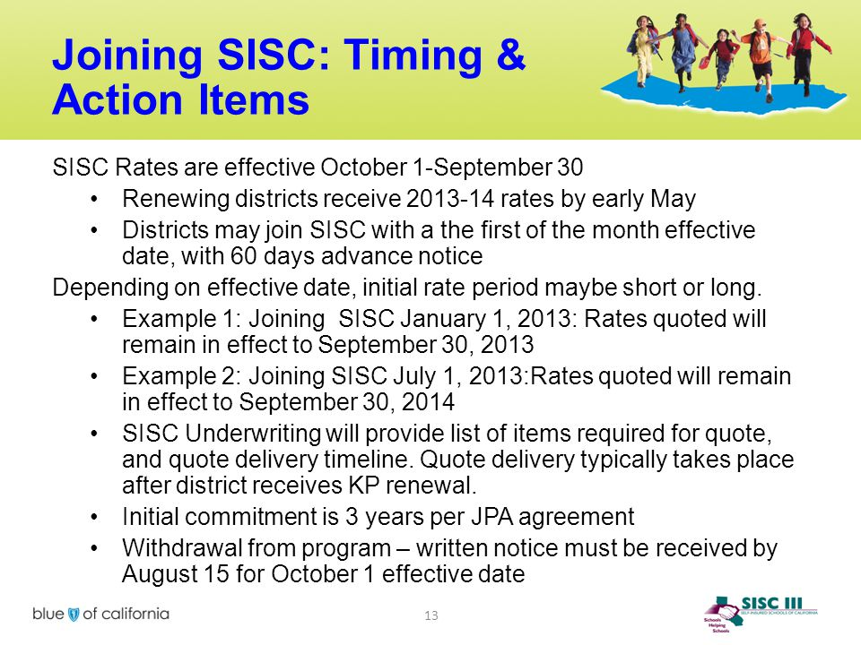 Joining SISC: Timing & Action Items