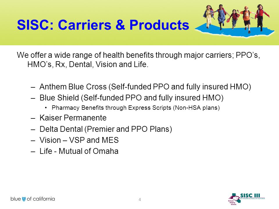 SISC: Carriers & Products