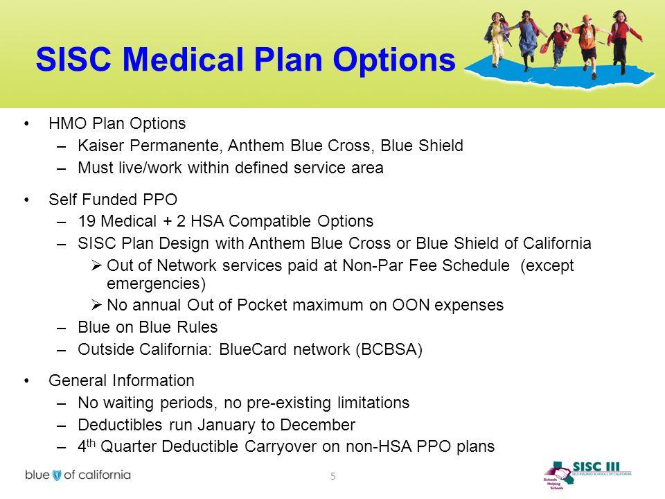 SISC Medical Plan Options