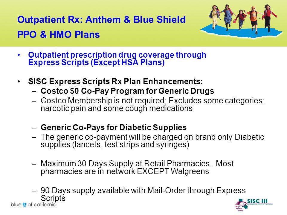 Outpatient Rx: Anthem & Blue Shield PPO & HMO Plans