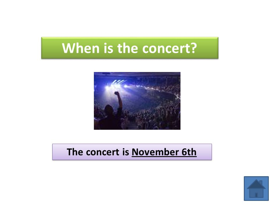 The concert is November 6th