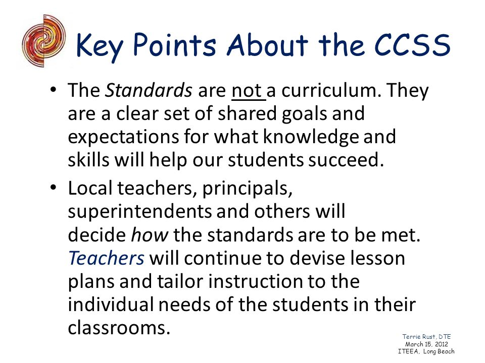 Key Points About the CCSS