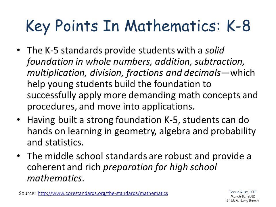 Key Points In Mathematics: K-8