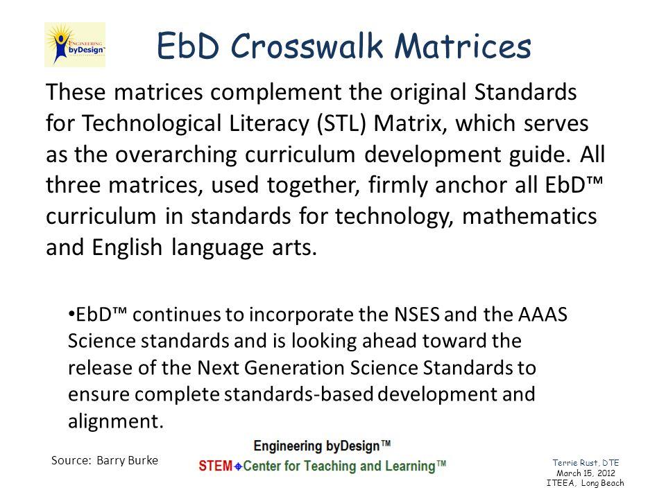 EbD Crosswalk Matrices