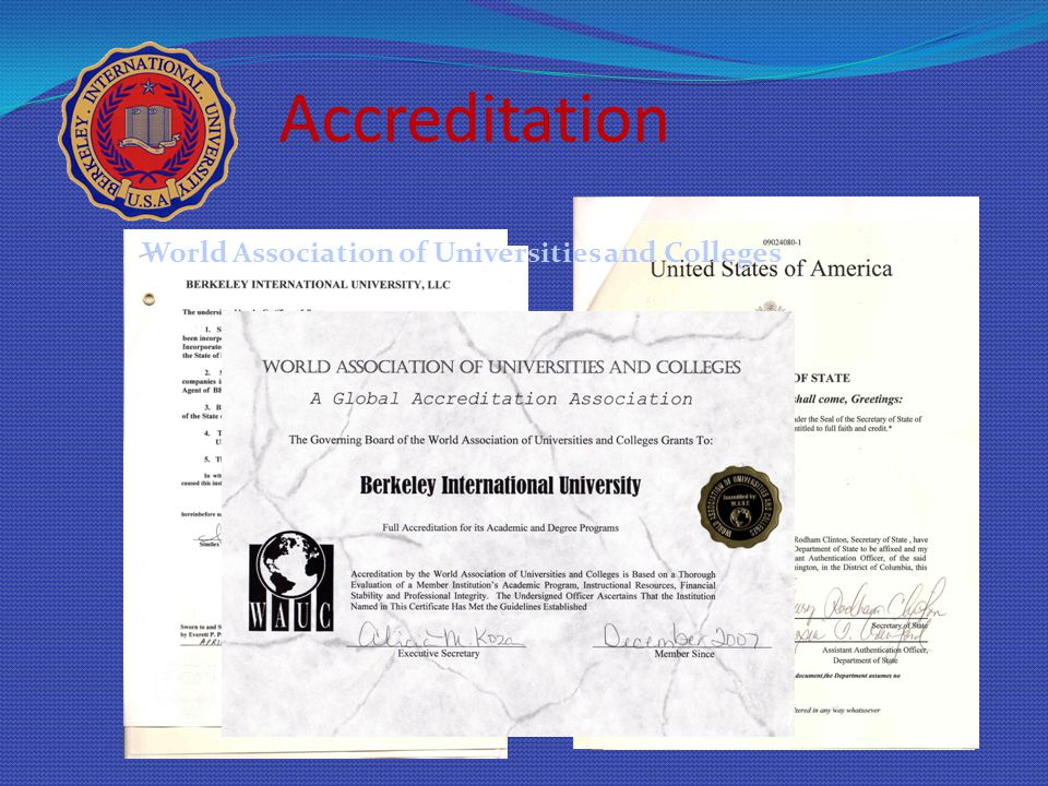 Accreditation World Association of Universities and Colleges