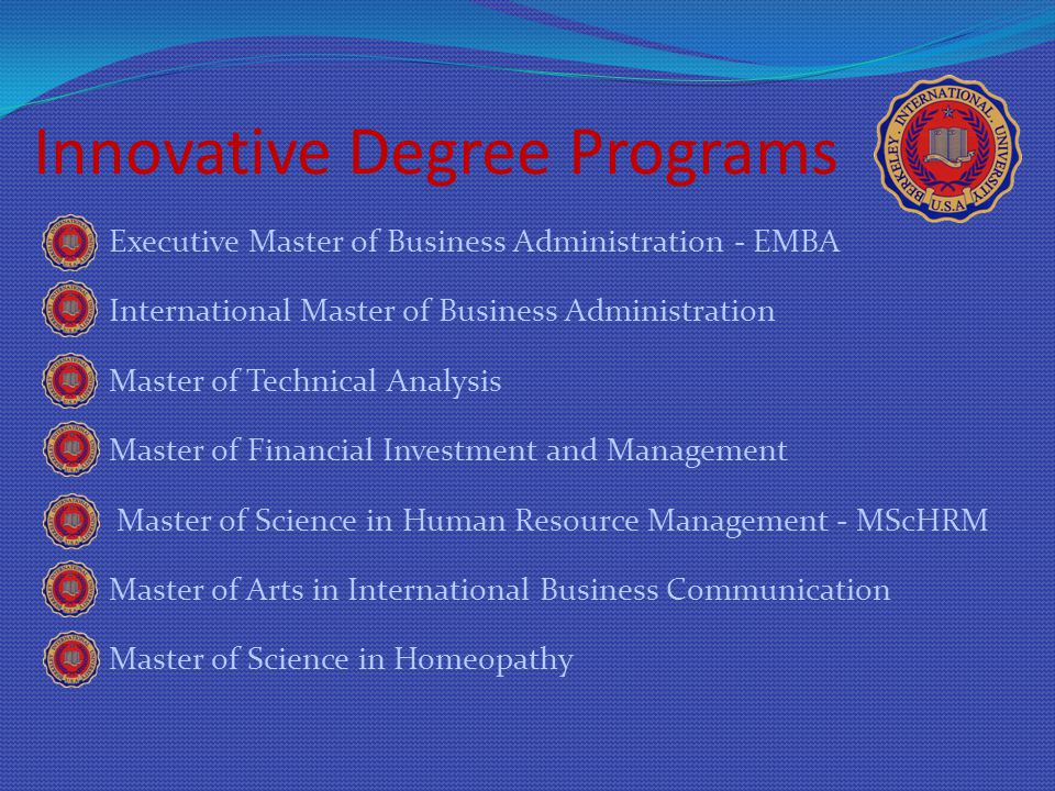 Innovative Degree Programs