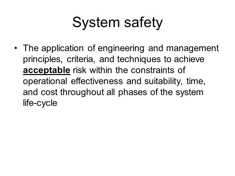 System safety