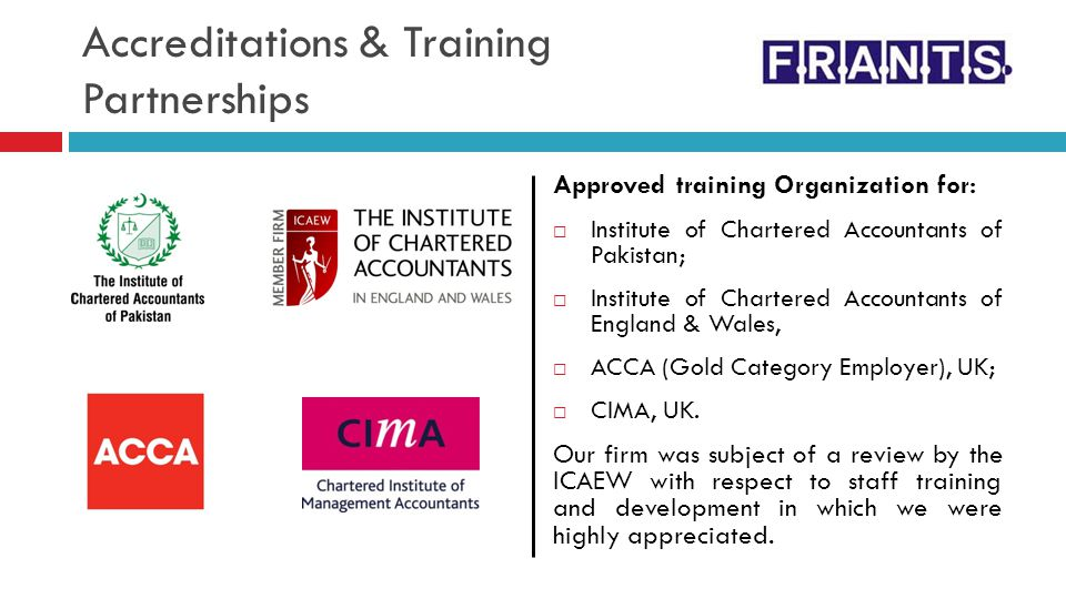 Accreditations & Training Partnerships