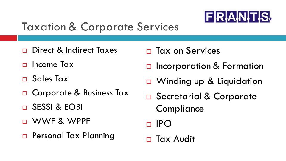 Taxation & Corporate Services