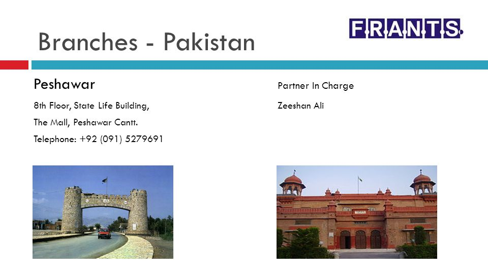 Branches - Pakistan Peshawar Partner In Charge