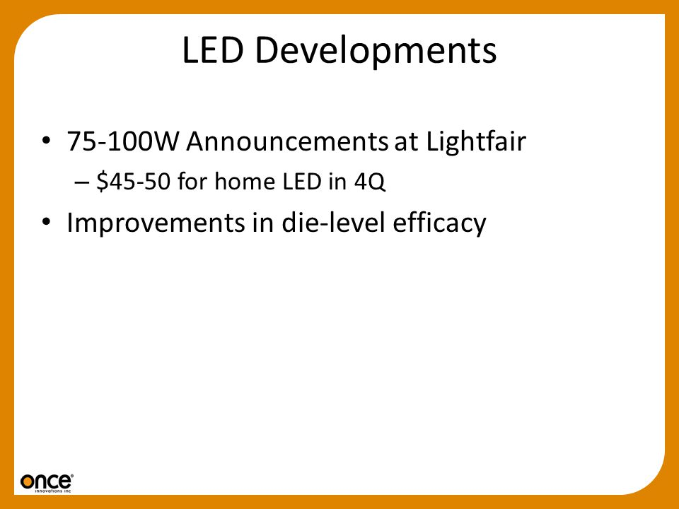 LED Developments 75-100W Announcements at Lightfair