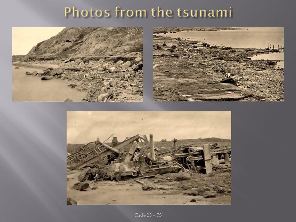 Photos from the tsunami