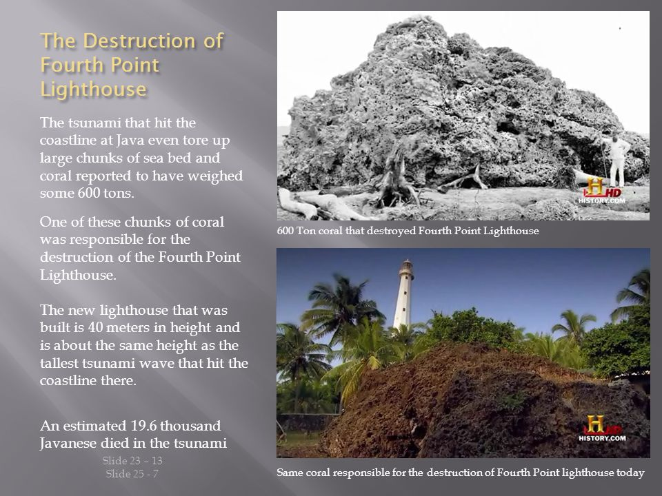 The Destruction of Fourth Point Lighthouse